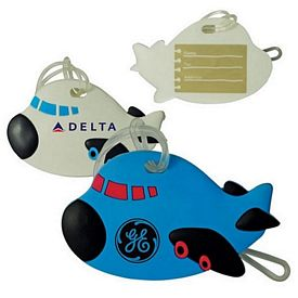 Promotional Airplane Shaped Soft Pvc Luggage Tag