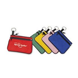 Promotional Double-Zipper Coin Purse With Key Ring