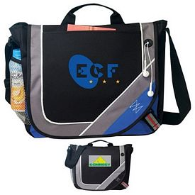 Promotional Reinforced Flap Highlight Messenger Bag