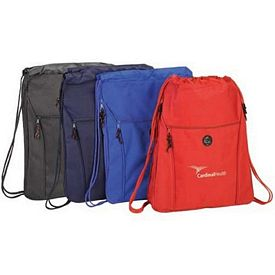 Promotional Expandable Company Drawstring Backpack