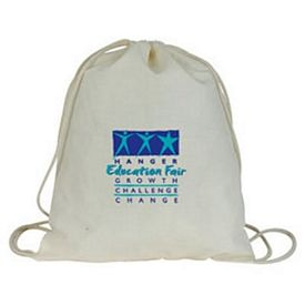 Promotional Light Weight Cotton Value Drawstring Shoulder Pack