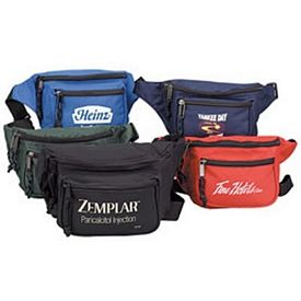 Promotional Heavy Duty 3 Zipper Fanny Pack
