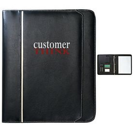 Promotional Zippered Leatherette Binder Portfolio