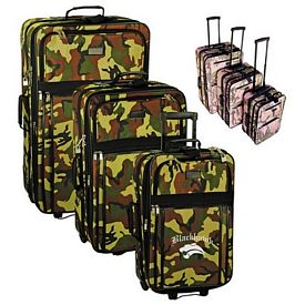 Promotional 3-Piece Camo Rolling Luggage Set