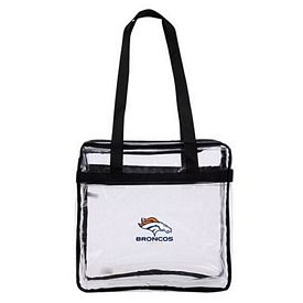 Promotional Transparent Stadium Zippered Tote Bag