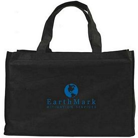 Customized Non-Woven Full Gusseted Shopping Tote Bag