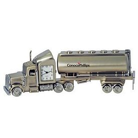 Promotional Oil Tanker Metal Quartz Clock
