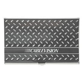 Promotional Hash Pattern Metal Business Card Case