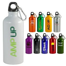 Promotional 22 Oz Aluminum Sports Bottle With Carabiner