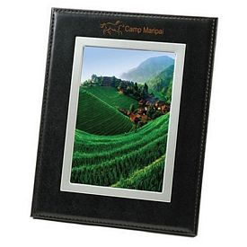 Custom Bonded Black Leather Frame 5X7 Picture Frame