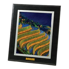 Promotional Bonded Black Leather Frame 8X10 Picture Frame