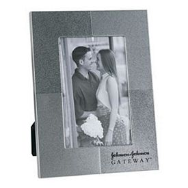 Promotional Two-Tone Silver 4X6 Picture Frame