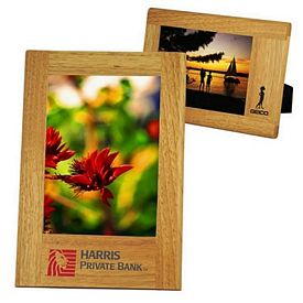 Customized Wide Border Natural Wood Frame 5 X 7