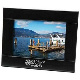 Custom Medium-Border Black Wood 5X7 Picture Frame