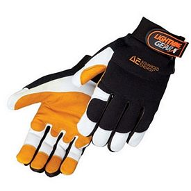 Promotional Leather Palm Premium Grain Goatskin Mechanic Gloves