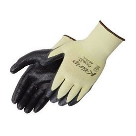 Customized Ultra-Thin Black Nitrile Palm Coated Kevlar Knit Gloves