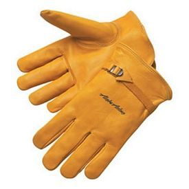 Promotional Golden Cowhide Driver Safety Work Gloves