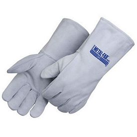 Custom Cotton Thread Gray Leather Welder Gloves