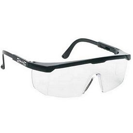 Custom Large Yellow Single-Lens Safety Glasses