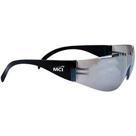 Custom Lightweight Silver Mirror Lens Safety Glasses