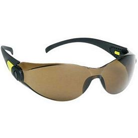 Custom Sporty Single-Piece Brown Lens Safety Glasses