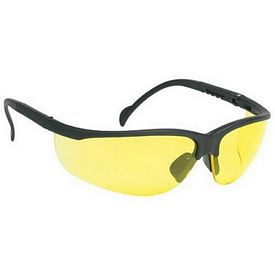 Custom Wrap-Around Polycarbonate Frame Yellow Lens Safety Glasses
