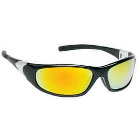 Custom Orange Mirror Lens Sleek Sports Style Safety Glasses