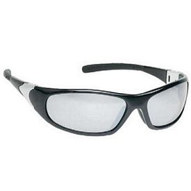 Promotional Silver Mirror Lens Sleek Sports Style Safety Glasses