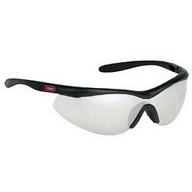 Promotional Indoor-Outdoor Sleek Single Piece Lens Wrap Around Safety Glasses