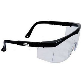 Promotional Large Single-Lens Clear Safety Glasses With Ratchet Temples