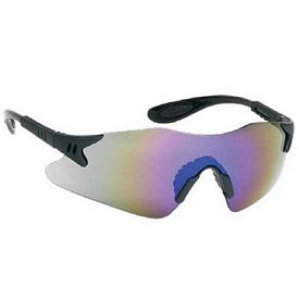 Promotional Stylish Single-Piece Blue Mirror Lens Safety Glasses