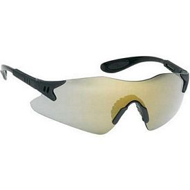 Customized Stylish Single-Piece Gold Mirror Lens Safety Glasses