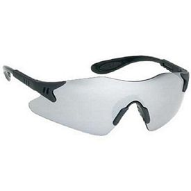 Custom Stylish Single-Piece Silver Mirror Lens Safety Glasses