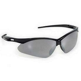 Promotional Silver Premium Sports Style Wrap Around Safety Sun Glasses