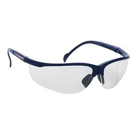 Customized Blue Frame Wrap Around Safety Glasses