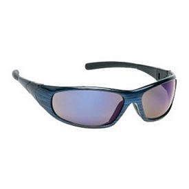 Custom Sports Style Blue Mirror Blue Frame Safety Glasses