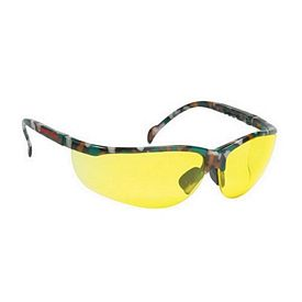 Promotional Amber Lens Wrap Around Camo Safety Sun Glasses