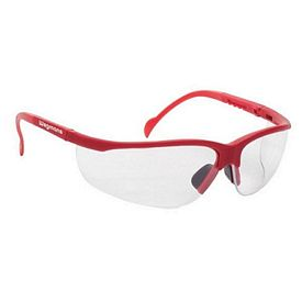 Custom Clear Lens Wrap Around Red Safety Glasses