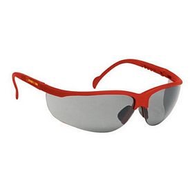 Promotional Grey Lens Wrap Around Red Safety Sun Glasses