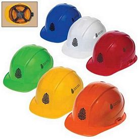 Promotional 4 Point Ratchet Suspension Cap Style Hard Hat