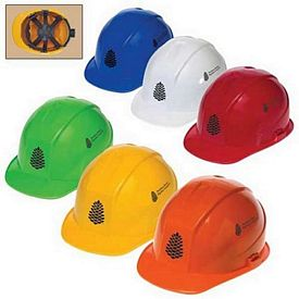 Promotional 6 Point Ratchet Suspension Cap Style Hard Hat