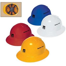 Customized 6 Point Pinlock Suspension Full Brim Hard Hat