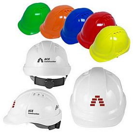 Custom 6 Point Ratchet Suspension Vented Cap Style Hard Hat