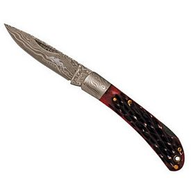 Promotional Damascus Lockback Pocket Knife