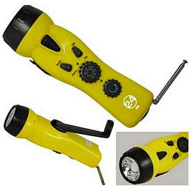 Promotional 4 In 1 Emergency Dynamo Radio-Flashlight