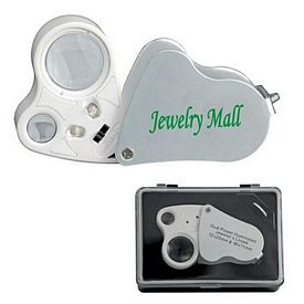 Customized 10X 20X Dual Power Illuminated Loupe Magnifier