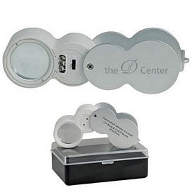 Promotional 10X Uv Led Illuminated Loupe Magnifier