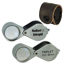 Customized 10X Professional Quality Chrome Plated Triplet Loupe