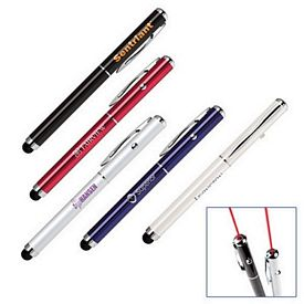 Custom 2-In-1 Soft-Touch Stylus Laser Pointer