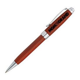 Promotional Librarian Twist-Action Rosewood Ballpoint Promotional Pen